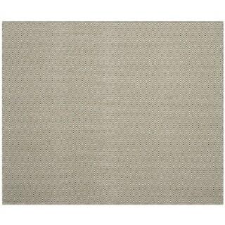 Safavieh Handmade Flatweave Montauk Eliina Casual Cotton Rug (6 x 6 Square - Ivory/Green)