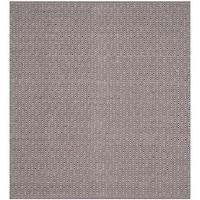 Safavieh Hand-Woven Montauk Flatweave Ivory/ Chocolate Cotton Rug (6' Square)