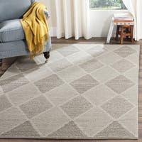 Safavieh Montauk Handmade Flatweave Grey Cotton Rug - 6' x 6' Square