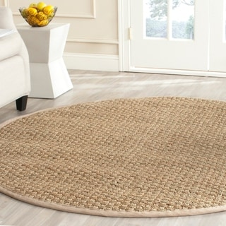 Safavieh Natural Fiber Contemporary Natural/ Beige Seagrass Rug (3' Round)