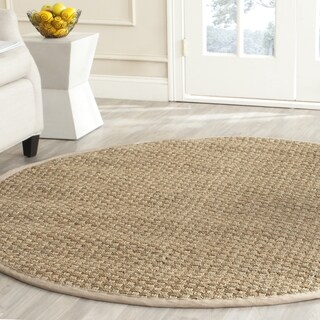 Safavieh Natural Fiber Contemporary Natural/ Beige Seagrass Rug (9' Round)