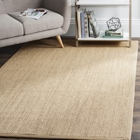 Safavieh Casual Natural Fiber Natural Maize/ Ivory Linen Sisal Area Rug - 8' x 8' Square