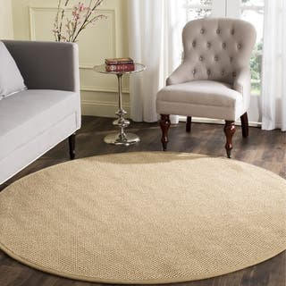 Safavieh Casual Natural Fiber Natural Maize/ Ivory Linen Sisal Area Rug (10' Round)|https://ak1.ostkcdn.com/images/products/13312061/P20018812.jpg?impolicy=medium