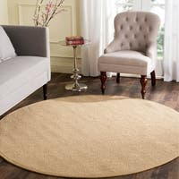 Safavieh Casual Natural Fiber Natural Maize/ Ivory Linen Sisal Area Rug - 8' X 8' Round
