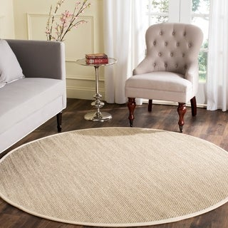 Safavieh Casual Natural Fiber Marble/ Beige Sisal Area Rug (8' Round)