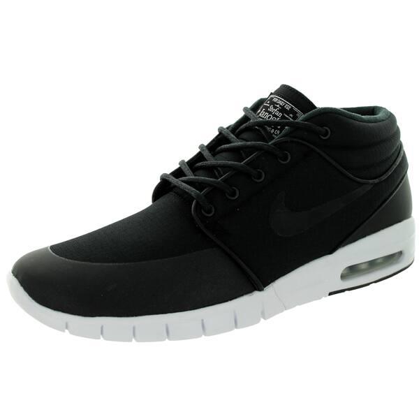 d444b2a1595e Nike Men s Stefan Janoski Max Mid Black Black Metallic Silver White Skate  Shoes ...