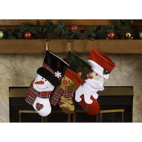 94e5a45f4 Santa Claus and Friends Xmas Icon Multicolor Polyester 18-inch Christmas  Stockings (Pack of