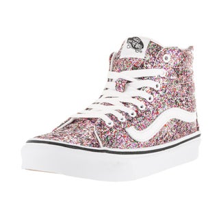 Vans Unisex Sk8-Hi True White Chunky Glitter Slim Zip Skate Shoes
