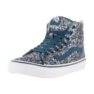 Vans Unisex Sk8-Hi Slim Zip Chunky Glitter Blue Skate Shoes