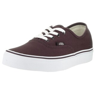 Vans Unisex Authentic Iron Brown and True White Canvas Skate Shoes
