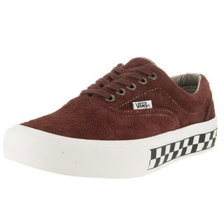 Vans Men's Era Pro Foxing Checkers Brown Suede Skate Shoes