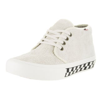 Vans Men's Chukka Pro Foxing Checkers White Suede Skate Shoe