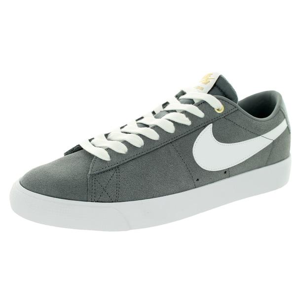 9e43c98ff3f Shop Nike Men s Blazer Low GT Cool Grey White Tide Pool Blue Skate ...