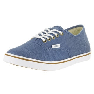 Vans Unisex Authentic Lo Pro Blue and True White Chambray Casual Shoes