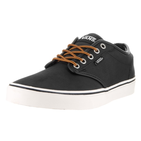 c0ca84f465 ... Men s Sneakers. Vans Men  x27 s Atwood Black Marshmallow Leather Skate  Shoe