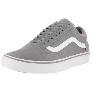 Vans Old Skool Grey and White Suede and Canvas Skate Shoe