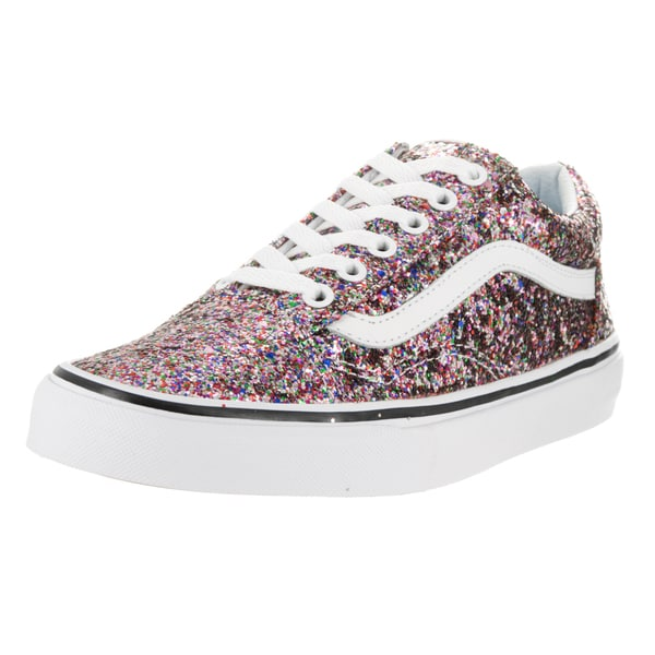 f44595abf6d4 Vans Unisex Old Skool True White and Multicolor Chunky Glitter Skate Shoes