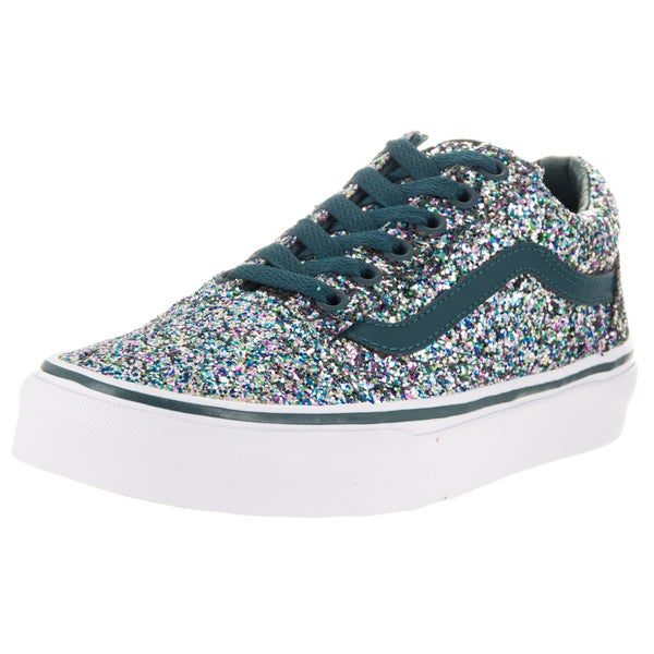 c2bb282783a Shop Vans Unisex Old Skool Atlantic Deep Blue Chunky Glitter Skate ...