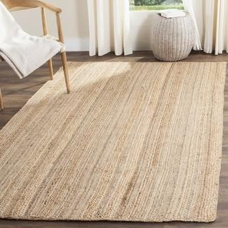 Safavieh Natural Fiber Contemporary Stripe Handmade Natural Jute Rug (6' Square)