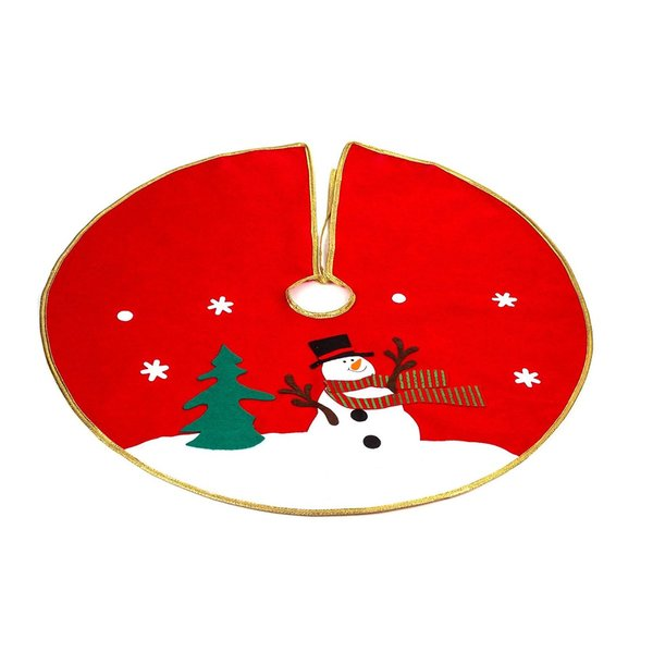Classic 30-inch Red Snowman Christmas Tree Skirt