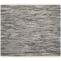 Safavieh Hand-Woven Rag Cotton Rug Grey Cotton Rug (6' Square)