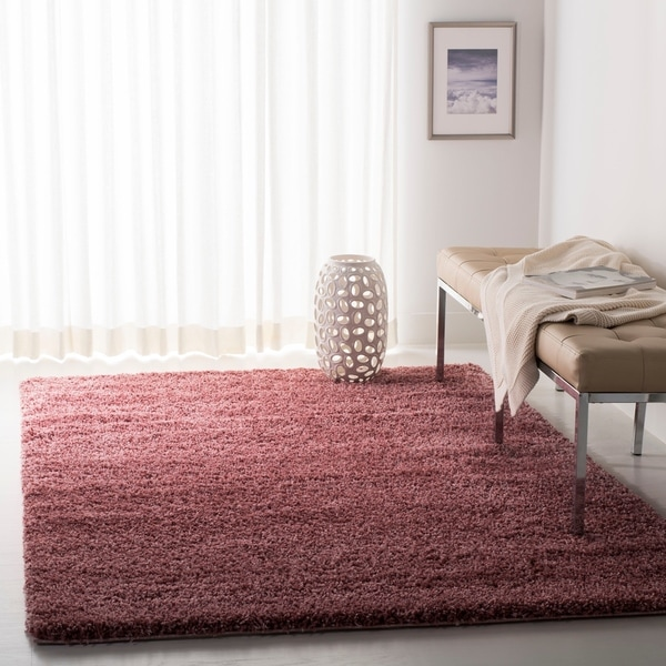 Safavieh California Cozy Plush Rose Shag Rug - 6' 7 Square