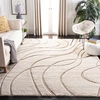 Safavieh Florida Ultimate Shag Contemporary Cream/ Beige Rug - 6' 7 Square