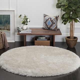 Safavieh Luxe Handmade Bone Shag Rug (6' Round)