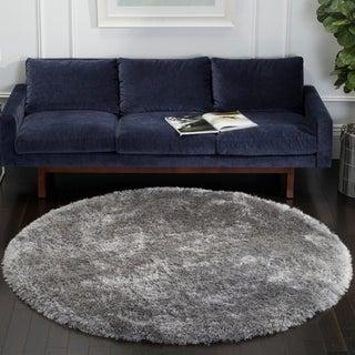 Safavieh Handmade Luxe Shag Super Plush Grey Polyester Rug (6' Round)