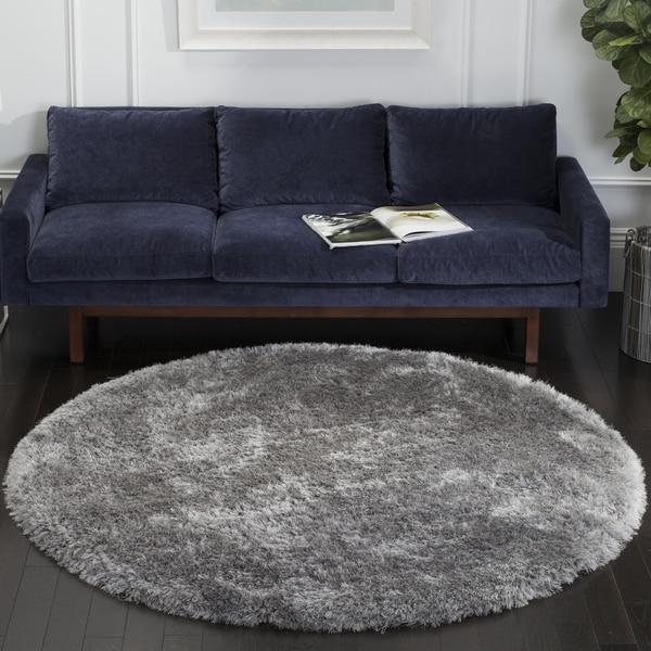 Safavieh Handmade Luxe Shag Super Plush Grey Polyester Rug