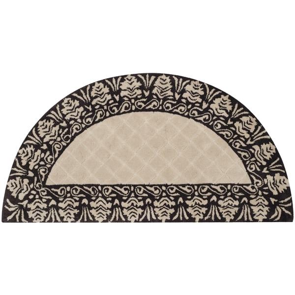 Safavieh Total Performance Handmade Trellis Ivory/ Chocolate Rug (2' x 4') - 2' x 4'