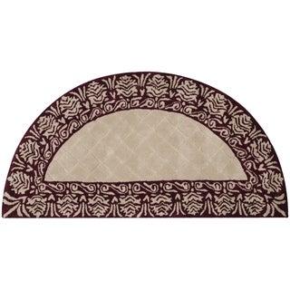 Safavieh Total Performance Handmade Trellis Ivory/ Maroon Rug (2' x 4')