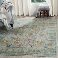 Safavieh Valencia Traditional Distressed Silky Polyester Rug - 6' 7 Square
