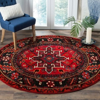 Safavieh Vintage Hamadan Traditional Red/ Multi Rug (7' Round)