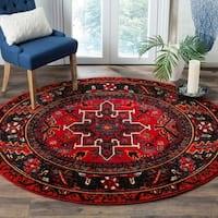 Safavieh Vintage Hamadan Traditional Red/ Multi Rug - 7' Round