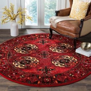 Safavieh Vintage Hamadan Traditional Red/ Multi Area Rug (7' Round)