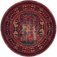 Safavieh Vintage Hamadan Traditional Red/ Multicolored Distressed Rug - 7' Round