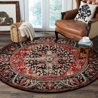 Safavieh Vintage Hamadan Traditional Red/ Multi Distressed Area Rug (7' Round)