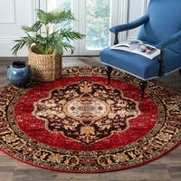 Safavieh Vintage Hamadan Medallion Red/ Multi Distressed Rug (7' Round)