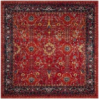 Safavieh Vintage Hamadan Traditional Orange/ Navy Distressed Rug - 7' Square