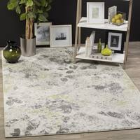Safavieh Watercolor Contemporary Ivory/ Grey Rug - 6' 7 Square