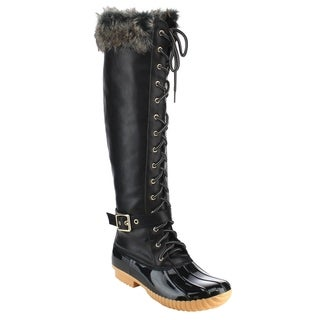Nature Breeze FF70 Women's Knee High Lace-up Insulated Boots Half Size Small