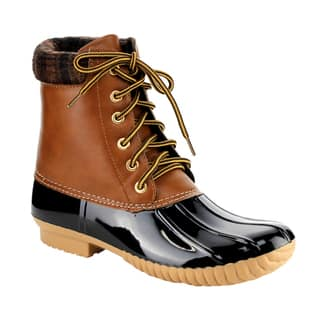 Women's Anna AE49 Lace-up Padded Cuff Duck Weather Boots|https://ak1.ostkcdn.com/images/products/13312410/P20019123.jpg?impolicy=medium