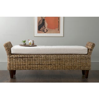 East At Main's Cline Brown Abaca Bench