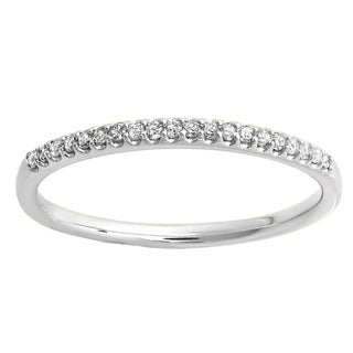 10k Gold 1/6ct TDW Round-cut Diamond Dainty Anniversary Wedding Stackable Band (I-J, I2-I3)