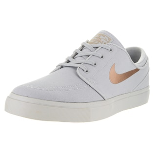 Nike Unisex SB Zoom Janoski Cnvs Cpsl Lt Iron Ore and Mtlc Red Bronze Skate Shoe