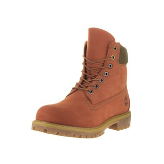 Timberland Men's Premium Orange 6-inch Boots