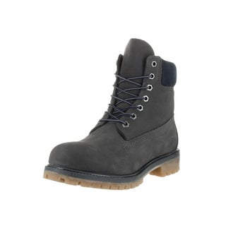 Timberland Men's Premium Grey Leather 6-inch Boots
