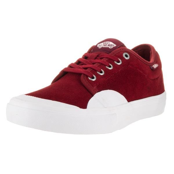 7f15fc25f53c Shop Vans Men s Chukka Low Pro Red Dahlia White Rubber Skate Shoes ...