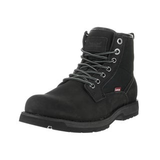 Levi's Men's Logan Nubuck Black/Mono/Chrome Combat-style Boot